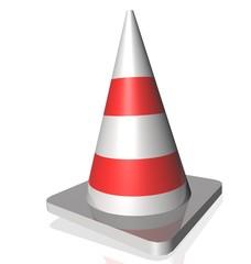cone white red