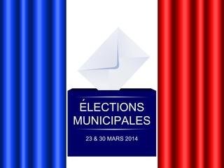 Elections municipales, mars 2014