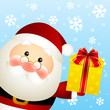 Cute Santa with gift box
