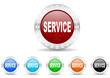 service icon christmas vector set