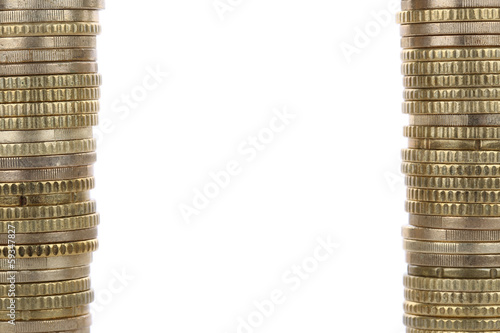 Rahmen aus Euro Münzen