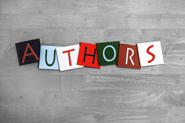 Authors as a sign for education, libraries, book clubs