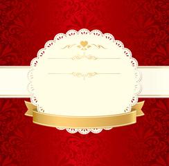 invitation vintage label vector frame