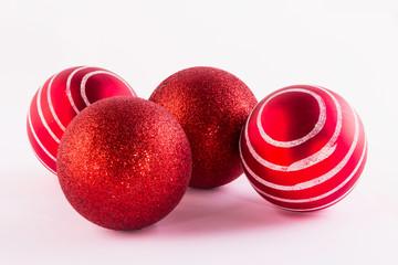 bolas roja de navidad