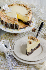Cheese cake with poppy seeds for christmas
