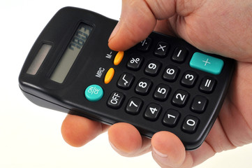 Calculatrice en main
