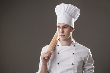 chef with rolling