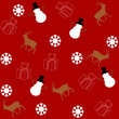 pattern for wrapping paper and filled with deer and snowman