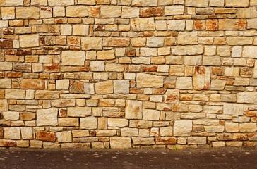 Hintergrund Natursteinwand mit Boden