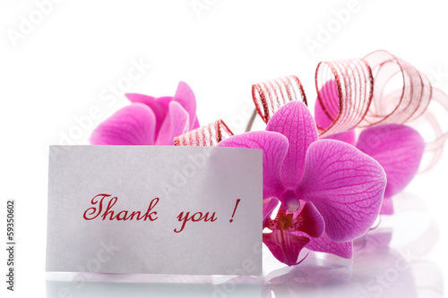 orchid flowers with gratitude