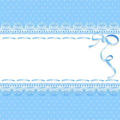 vintage lace background with ribbon
