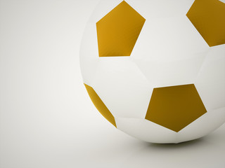 Gold football ball