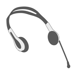 cartoon image of 2d headphones