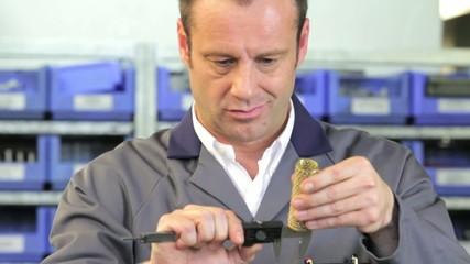 engineer measuring