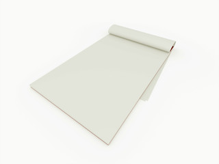 Notebook blank isolated on white