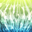 Green and blue abstract arrow transparent vector background web
