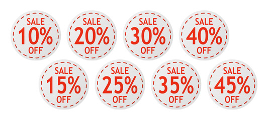 vector sale signs