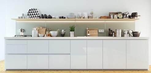 Küchenzeile Ansicht - detailed kitchen view