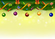 Christmas garland with sweets, bells and balls
