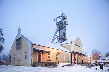 Salt mine entrance