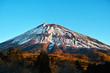 西臼塚駐車場からの早朝の富士山