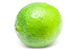 Green Lime Fruit Closeup On White Background