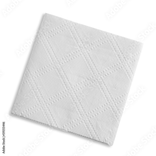 White square napkin, studio isolated