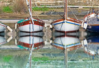 boats reflection