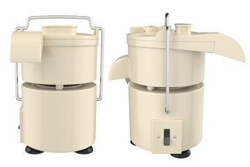 Electric juicer on white background. 3D image
