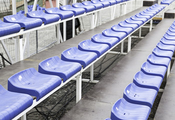 Bleachers in a football stadium