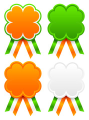 Award Badges Leaf Clover Ireland