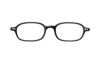 Black eyeglasses (with clipping path) isolated on white backgrou