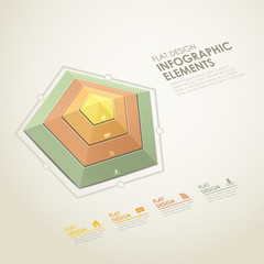 abstract radar chart infographics