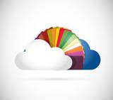 cloud and colors illustration design