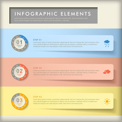 abstract banner infographics