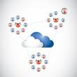 cloud people network communication.