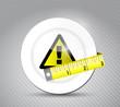 foot warning sign illustration design