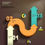Fototapety abstract 3d arrow infographics