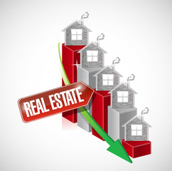 real estate graph illustration design