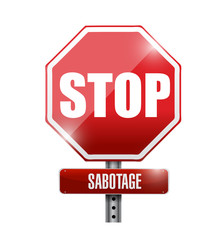 stop sabotage road sign illustration design