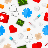 Pattern medical icons set