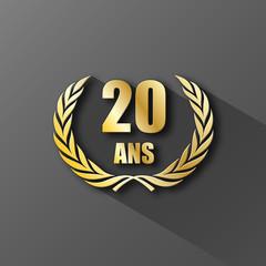 COURONNE DE LAURIERS 20 ANS (anniversaire palme prix excellence)