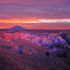 """Death Valley"" at sunset, Atacama desert."