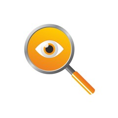 Magnifier with eye