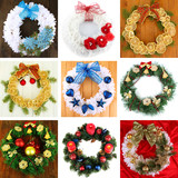 Collection  of Christmas wreathes