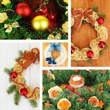 Collage of Christmas wreathes