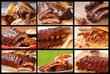 Collage of delicious BBQ foods