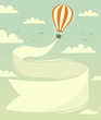Hot air balloon with banner. Vector illustration. - 59359003