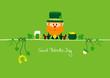 Postcard Leprechaun & Symbols Green
