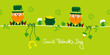 Saint Patrick´s Day 2 Leprechauns & Symbols Light Green